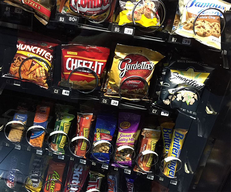 Snack time options in your business environment.